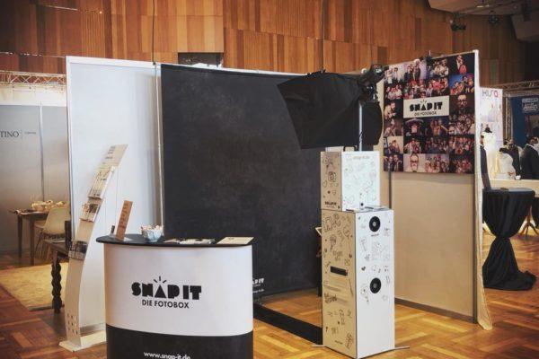 Messestand Fotobox auf der Hochzeits Messe